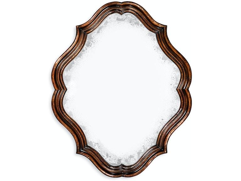 Jonathan Charles Accessories Rustic Walnut Oval Antique Mirror 495323 Rwl Louis Shanks Austin