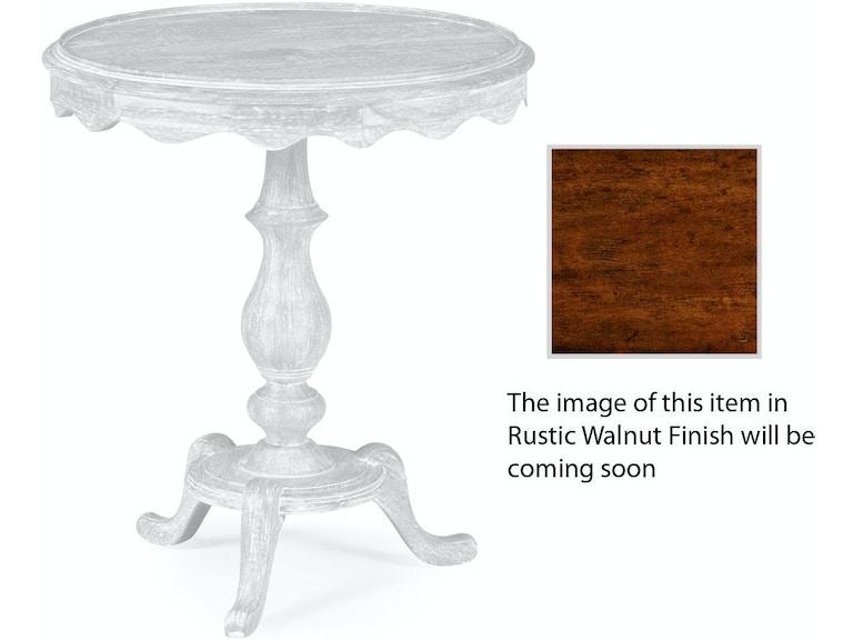 Jonathan Charles Living Room Round Rustic Walnut Lamp Table 495335 Rwl At Louisiana Furniture Gallery