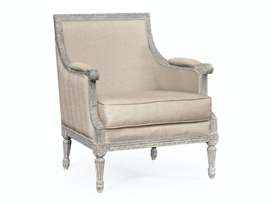 Jonathan Charles Occasional Chair Upholstered In Mazo 495434-WNG-MAZO