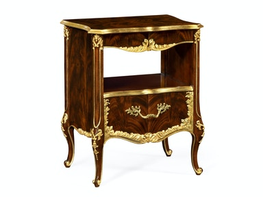 Jonathan Charles Nightstand With Gilt Carved Detailling 495504-BMA-GIL