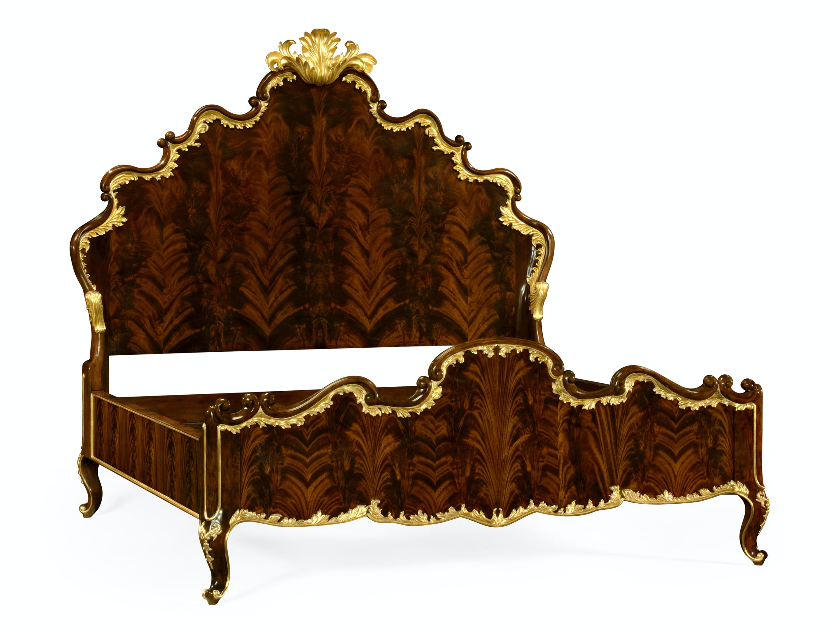 Jonathan Charles Us King Bed With Gilt Carved Detailling 495505 USK BMA