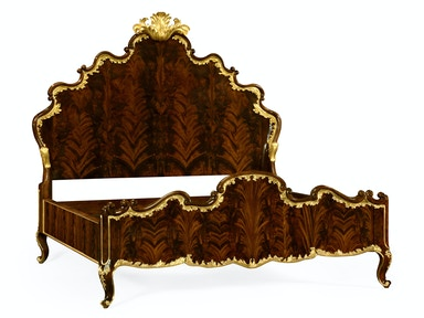 Jonathan Charles Us Queen Bed With Gilt Carved Detailling 495505-USQ-BMA