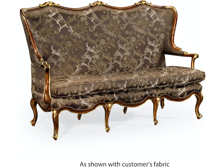 Classical Three-Seat Canape With Gilt Carved Detailing (Com ...
