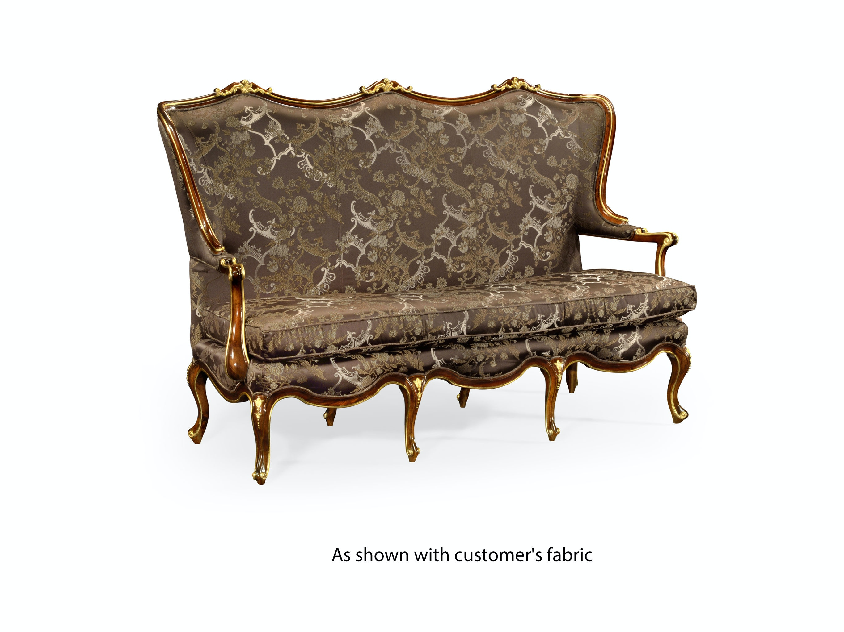 Jonathan Charles Classical Three Seat Canape With Gilt Carved Detailing  (Com) 495508