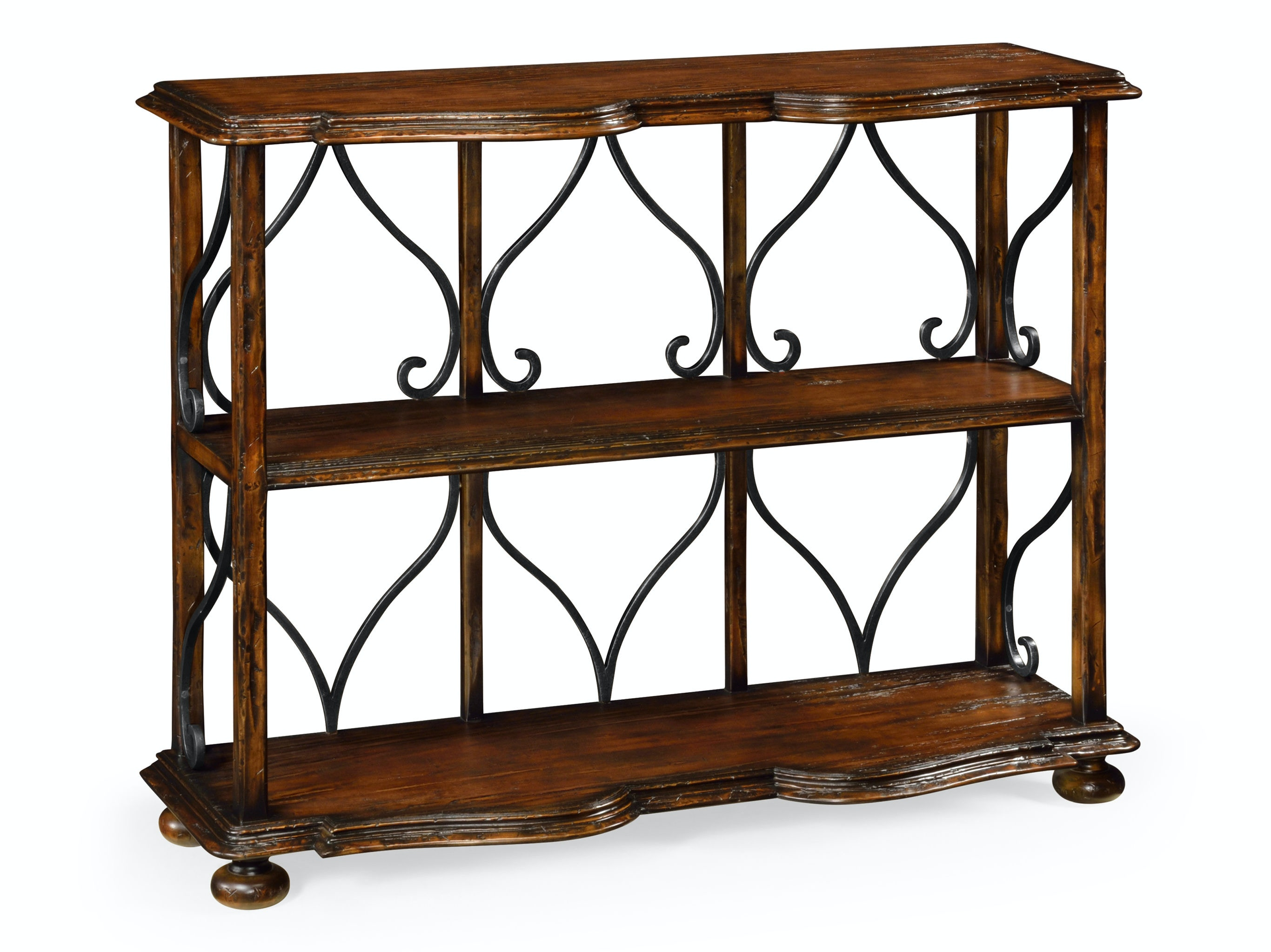 Jonathan Charles Two Tier Etagere In Rustic Walnut 495538 RWL