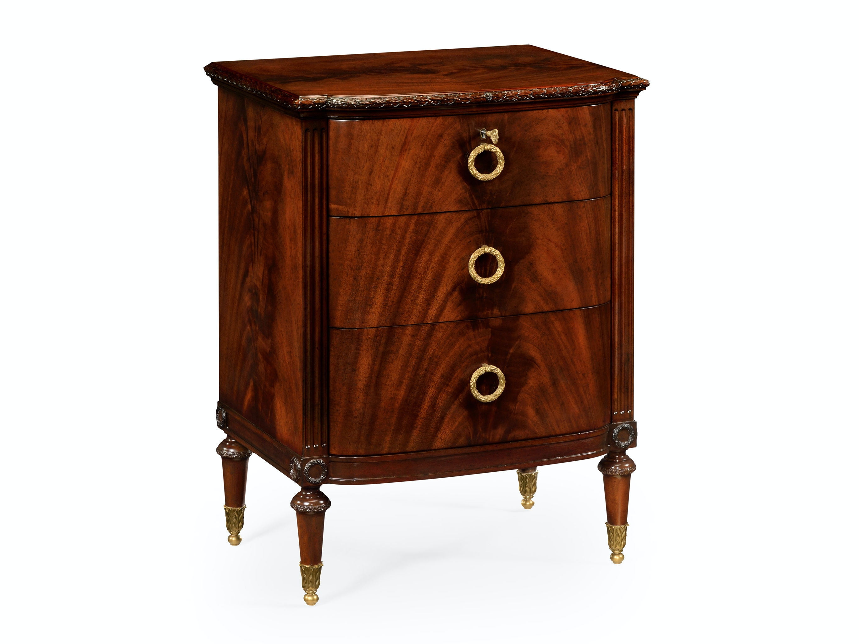 Jonathan Charles Bedside Table With Drawers 495571 MAH