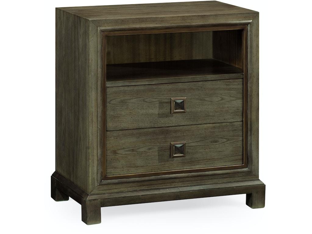 jonathan charles bedroom nightstand in light grey chestnut 495650 lgc hamilton park interiors. Black Bedroom Furniture Sets. Home Design Ideas