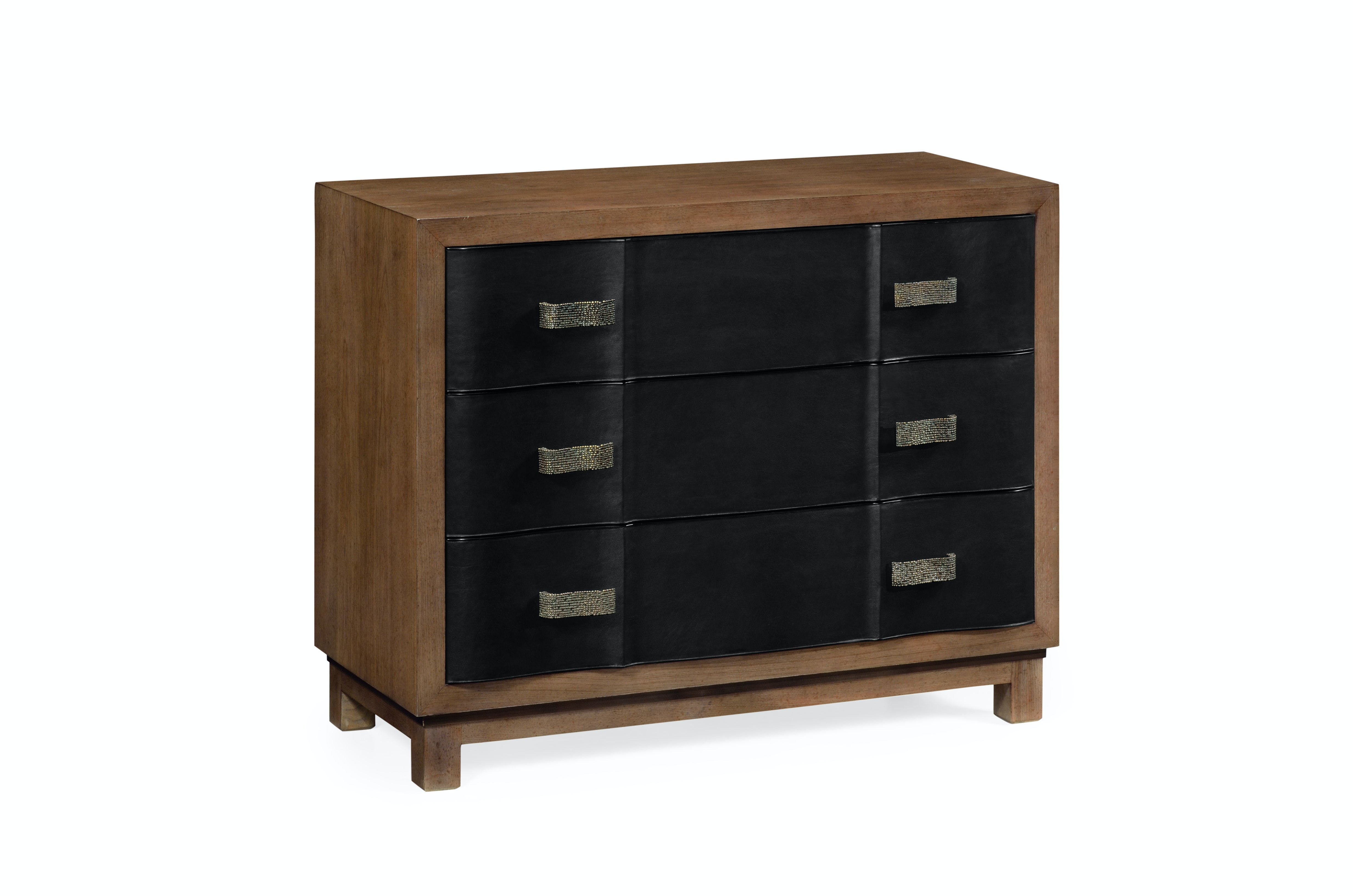 Jonathan Charles Bedroom Black Leather Inlaid Chest Of Drawers Qj495670mgc Walter E Smithe Furniture Design