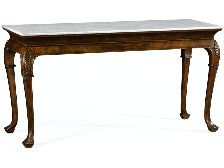 Jonathan Charles Brown Mahogany Buffet Table With Marble Top Qj495728lbm