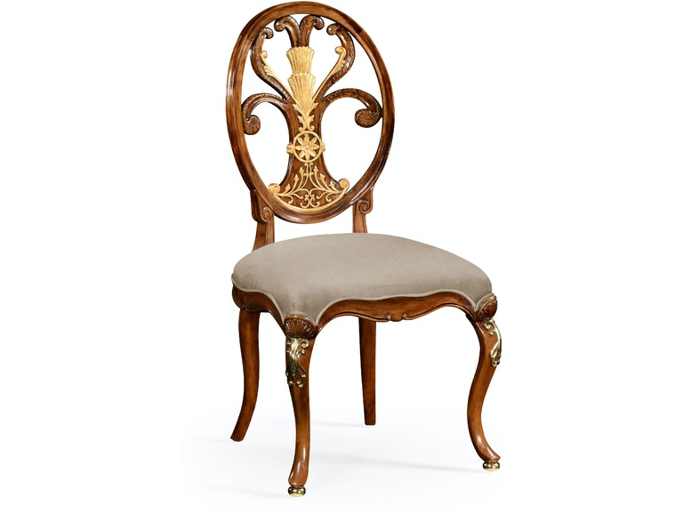 Jonathan Charles Sheraton Style Oval Back Chair With Br Details Side 499166