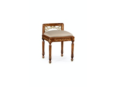 Jonathan Charles Burl & Mother Of Pearl Dressing Stool 499183