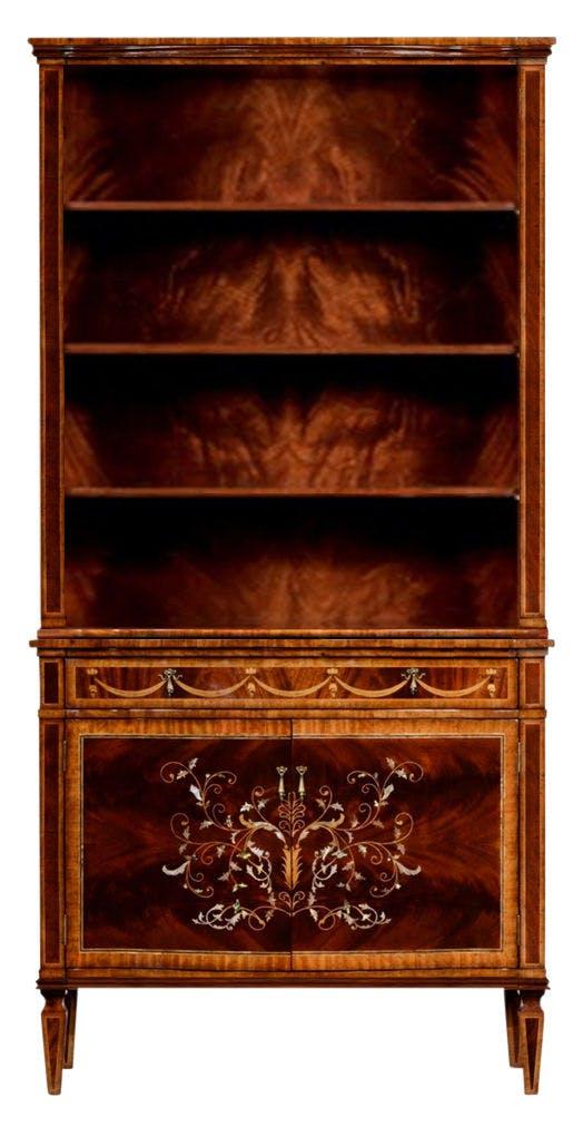 Jonathan Charles Home Office Mahogany Bookcase Qj499516mam Walter E Smithe Furniture Design