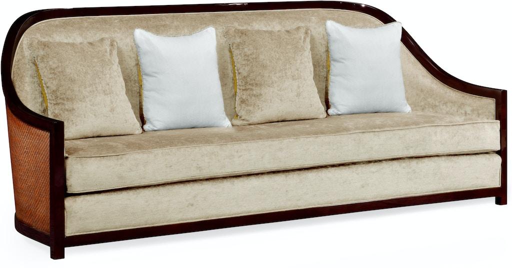 Jonathan Charles Living Room 86 Sofa In Eucalyptus Rattan In