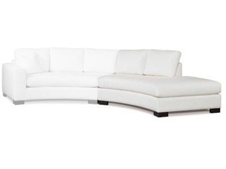 Precedent Furniture Living Room Curved Right Bumper 2666 Cbr