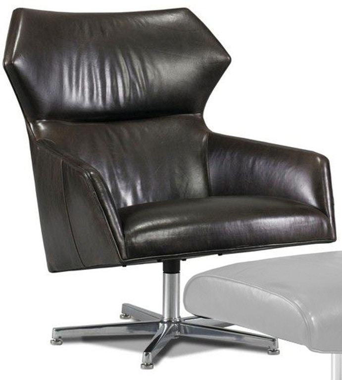 Precedent Furniture Living Room Sebastian Leather Swivel Chair L3267 ...