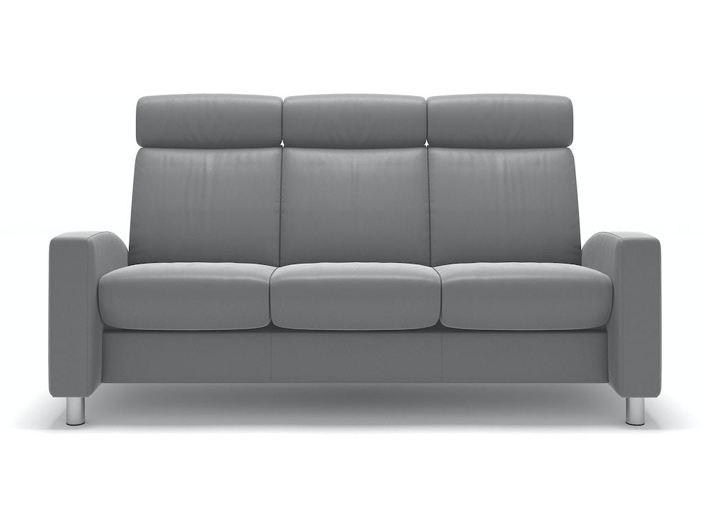 Stressless by Ekornes Living Room Stressless® Arion 19 A10 Sofa High-back  1406030 Walter E. Smithe Furniture + Design