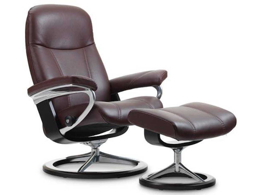 stressless by ekornes living room stressless consul large signature base 1020315 swann 39 s. Black Bedroom Furniture Sets. Home Design Ideas