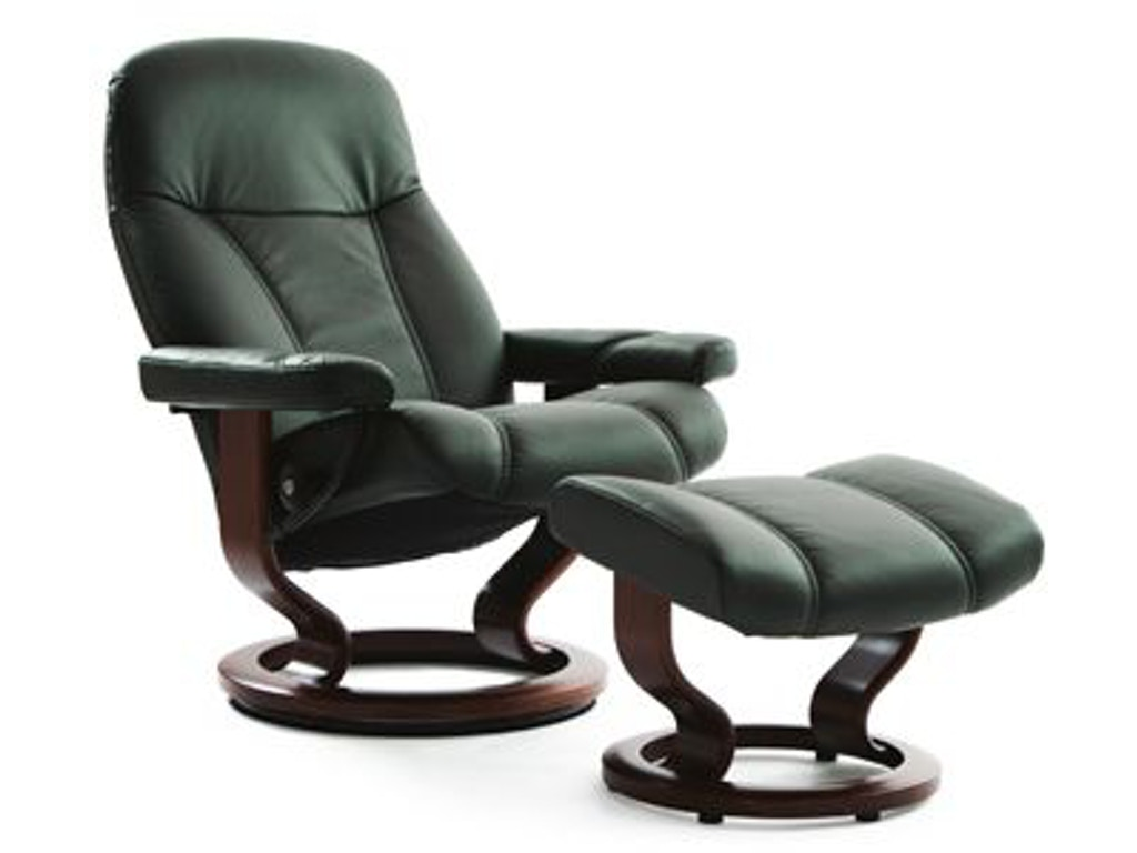 stressless by ekornes living room stressless consul medium classic base 1005015 bacons. Black Bedroom Furniture Sets. Home Design Ideas