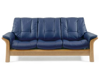 Stressless by Ekornes Stressless® Windsor Lowback 3 Seater Medium Stressless Windsor Lowback 3 Seater Medium