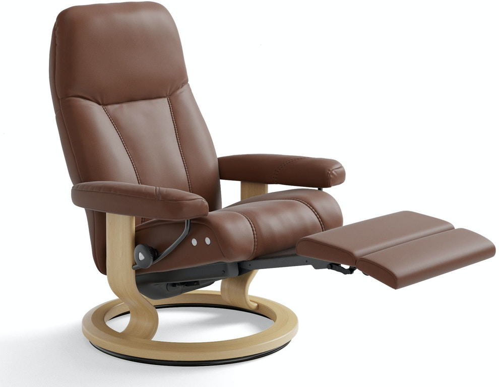 stressless by ekornes living room stressless consul medium legcomfort 1005715 today 39 s home. Black Bedroom Furniture Sets. Home Design Ideas