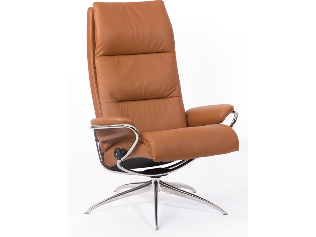 huge discount a522e 8635f Stressless by Ekornes Living Room Stressless® Tokyo High Back Star Base  Chair and Ottoman 1353346 Walter E. Smithe Furniture + Design