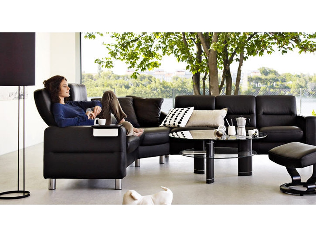 Walter E Smithe Living Room Of Stressless Wave Highback Medium Corner 1125055
