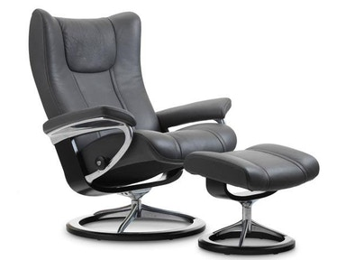 Stressless by Ekornes Stressless® Wing Small Signature Base Stressless Wing Small Signature Base