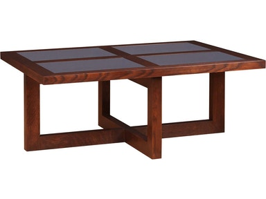Stickley Soho Glass Top Cocktail Table 89-545-G