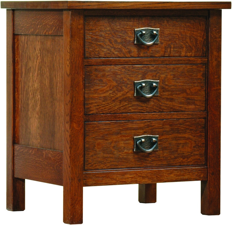 Stickley Youth Three Drawer Night Stand An 1987 032