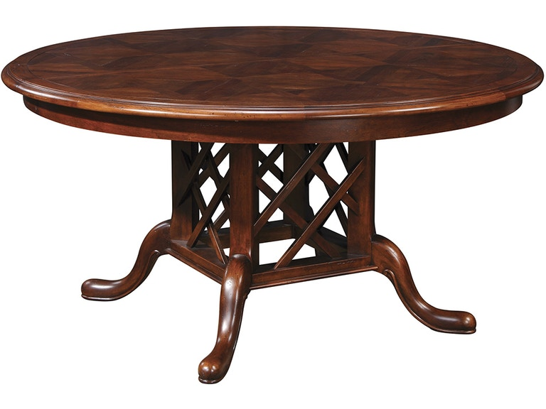 stickley dining room table | Stickley Dining Room Geneva Round Dining Table 53420-60 ...