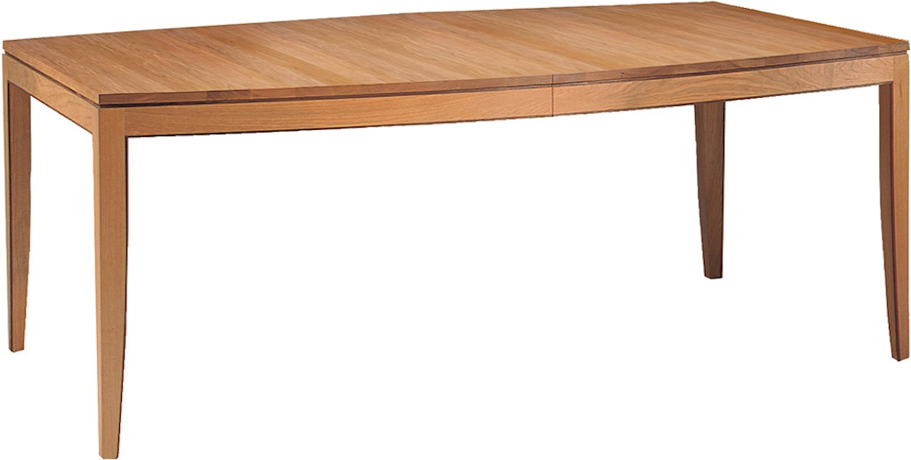 Stickley Dining Room Boat Shaped Dining Table 7749 2lvs