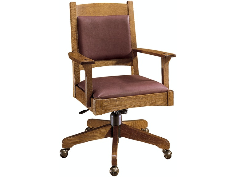 Awesome Stickley Home Office 323 Swivel Tilt Desk Chair Louis Interior Design Ideas Philsoteloinfo