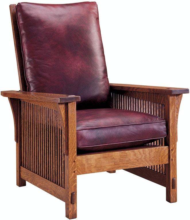 Stickley Living Room Compact Spindle Morris Chair 89 367