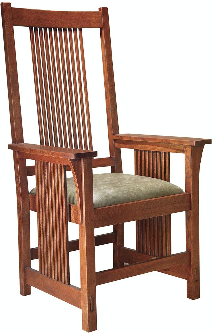 Stickley Dining Room Spindle Arm Chair 89 386 Von Hemert