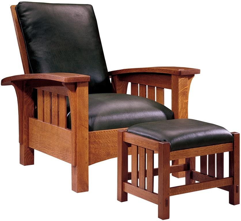 Stickley Living Room Bow Arm Morris Chair 89 406 Stacy
