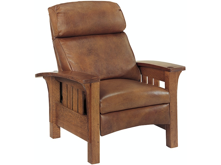 Stickley Living Room Bow Arm Morris Recliner 89 406 Rl