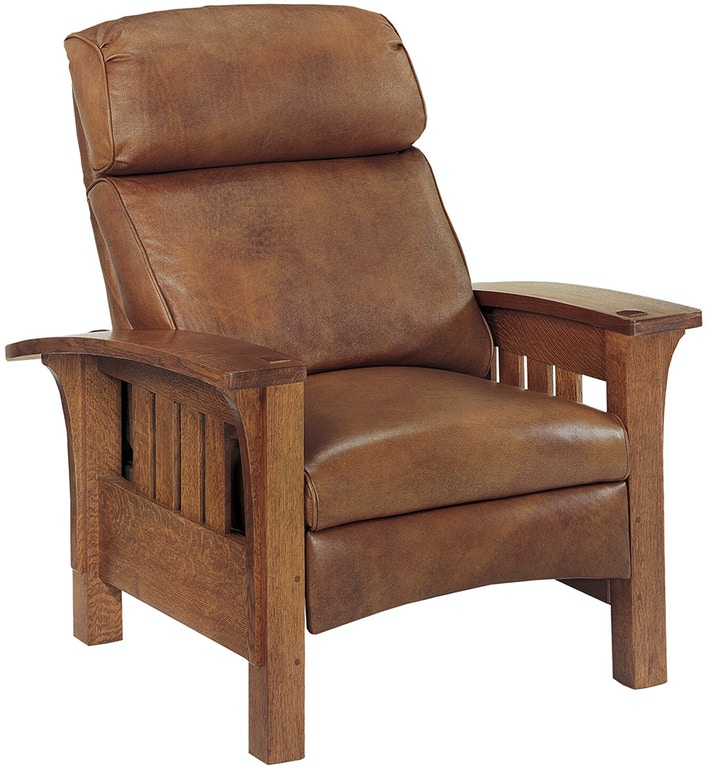 Terrific Stickley Living Room Recliner Leather Bustle Back Bow Arm Gamerscity Chair Design For Home Gamerscityorg