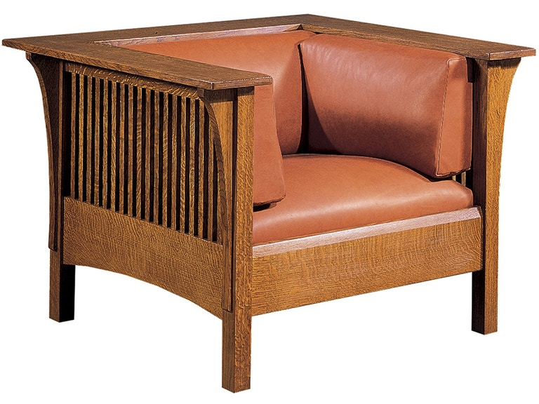Stickley Living Room Prairie Spindle Chair 89 417 Toms