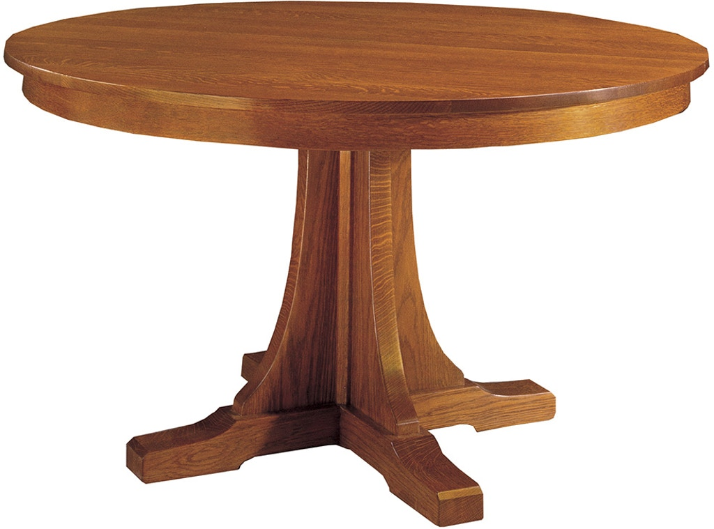 Stickley Dining Room Round Pedestal 46 Dining Table 89 713 46 2lvs Toms Price Home Chicago