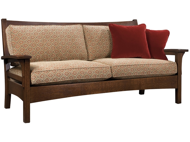 Slat Back Settle Mission Sofa