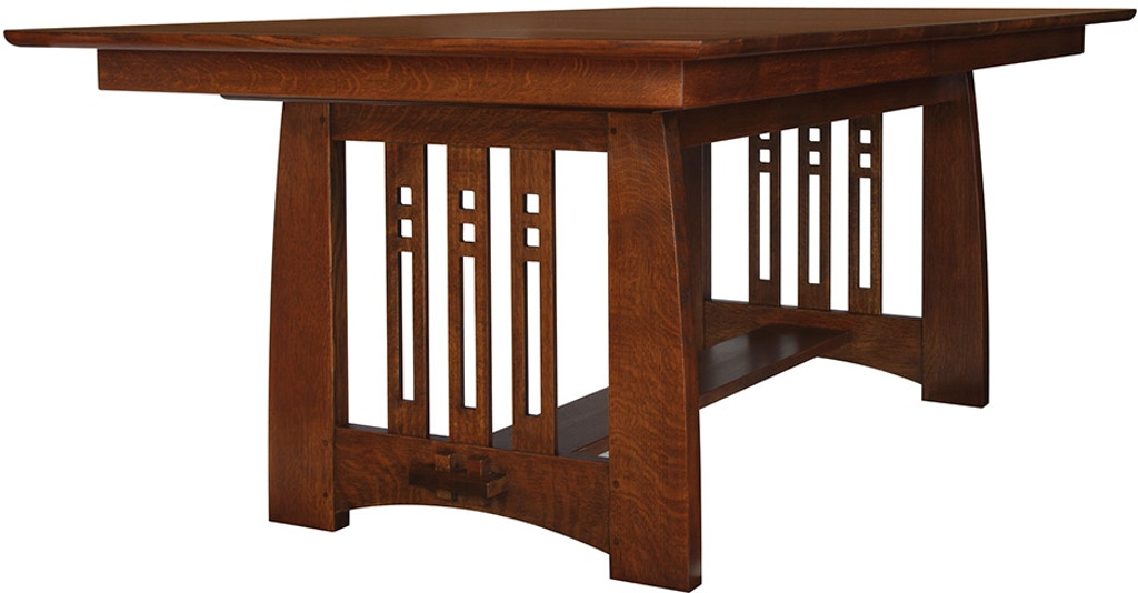 Stickley Dining Room Highlands Trestle Table 89 598 2lvs