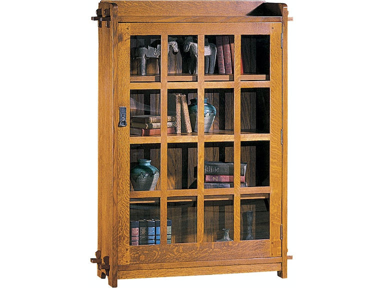 Stickley Home Office Single Bookcase With Glass Door 89 643