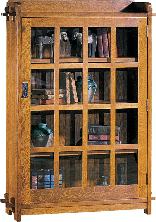 Stickley Home Office Single Bookcase With Glass Door 89