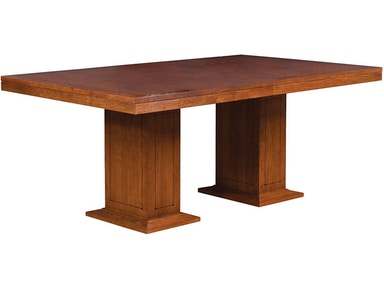 Stickley Dining Room Double Pedestal Dining Table 91-2053 ...