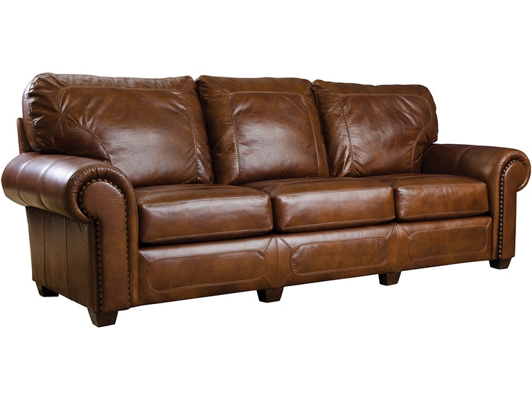 Stickley Living Room Santa Fe Sofa Leather Nailhead 180627 ...