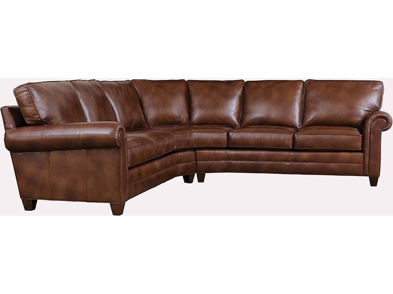 Wondrous Stickley Living Room 8874 Arlington Sectional Leather West Pabps2019 Chair Design Images Pabps2019Com
