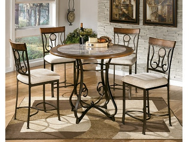 Round DRM Counter Table And 4 Chairs