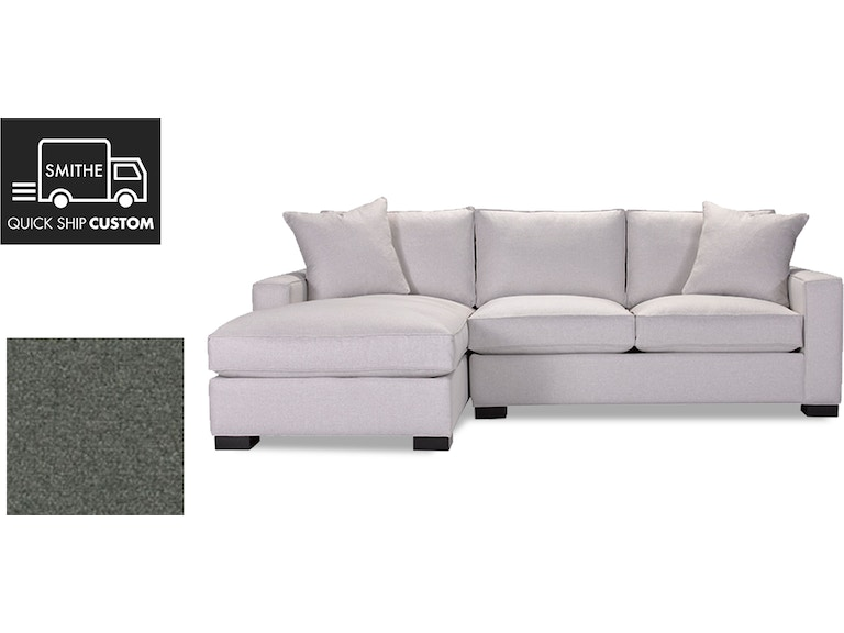 Quick Ship Custom Grace Sectional With Ra Sofa La Chaise In Fabric C 9110