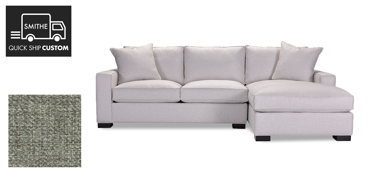 Quick Ship Custom Grace Sectional With LA Sofa / RA Chaise In Fabric C 9310