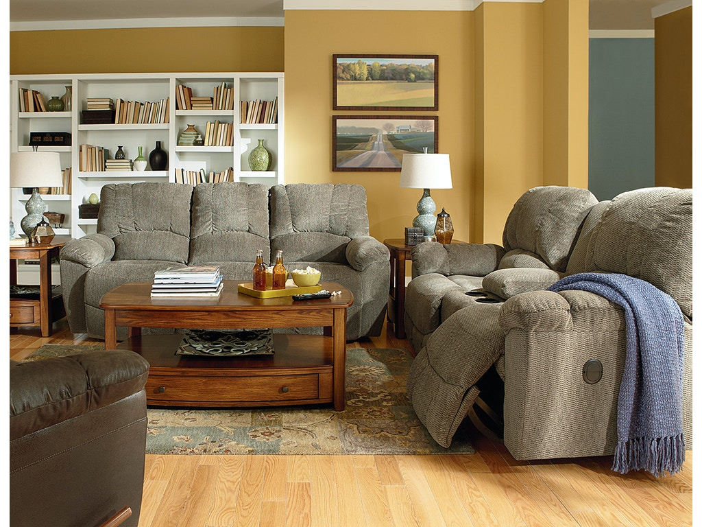 La Z Boy Living Room La Z Time Full Reclining Sofa 440537 Dewey Furniture Vermilion